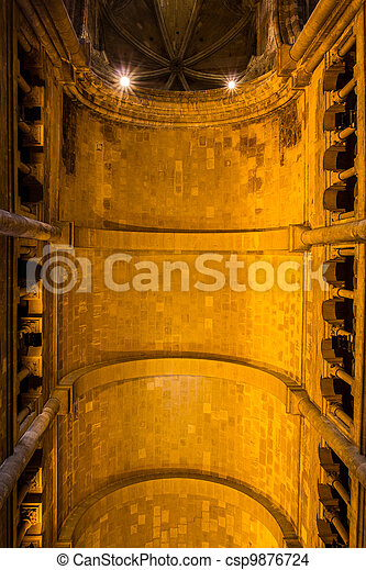 Gothic ceiling inside Cathedral Sé in Lisbon - csp9876724