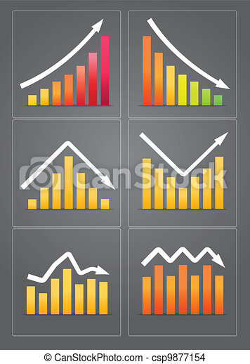 Business revenue charts - csp9877154