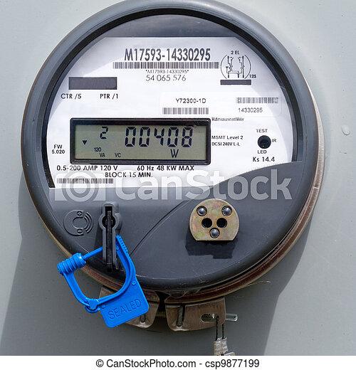 Smart grid residential digital power supply meter - csp9877199