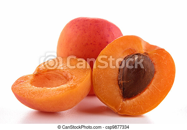 fresh apricot - csp9877334