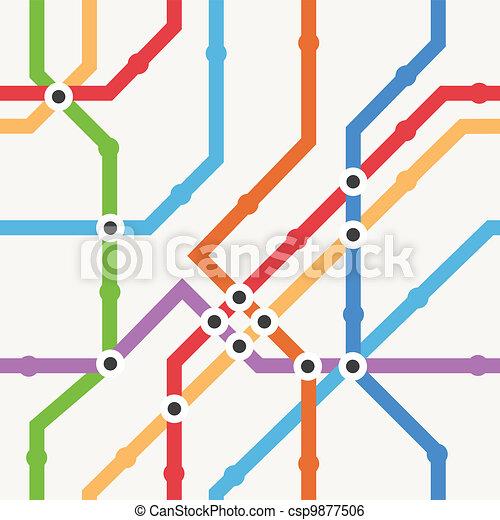 Color metro scheme - csp9877506