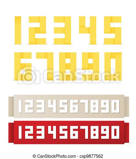 Origami digits - csp9877562