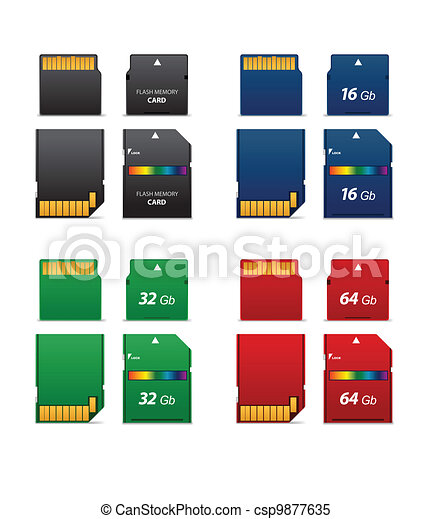 Set of flash cards - csp9877635