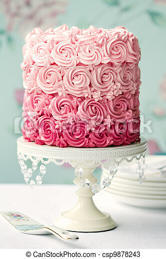 Pink ombre cake - csp9878243