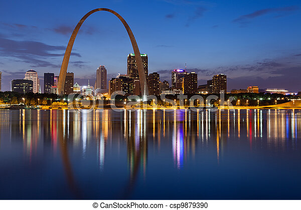 City of St. Louis skyline. - csp9879390