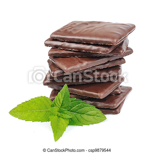 Mix chocolate and mint - csp9879544