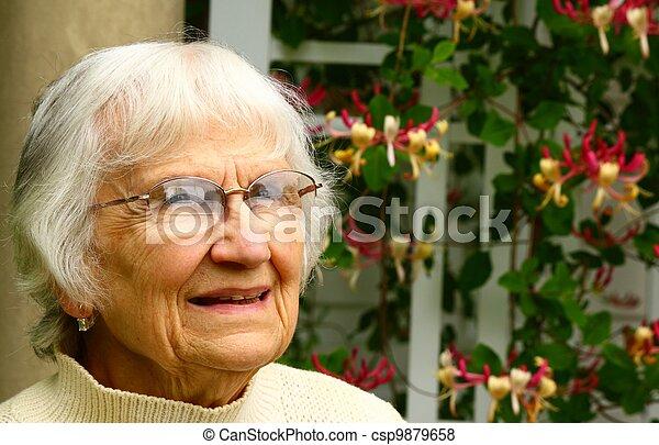 senior citizen gaze - csp9879658