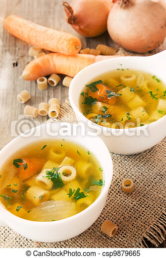 Vegetable soup with pasta - csp9879665