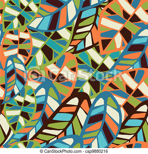 Abstract leaf pattern background - csp9880216