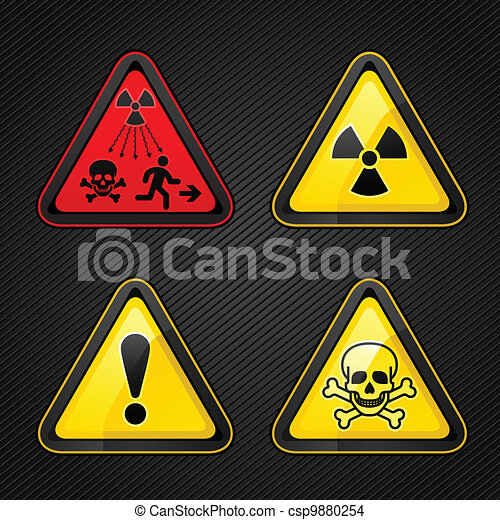 Hazard warning set attention symbols - csp9880254