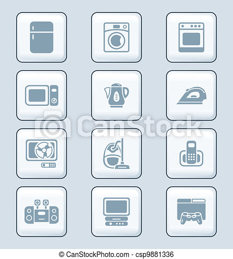 Home electronics icons | TECH serie - csp9881336