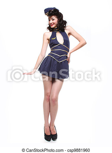 Sailor Pin Up Style Retro Girl - csp9881960