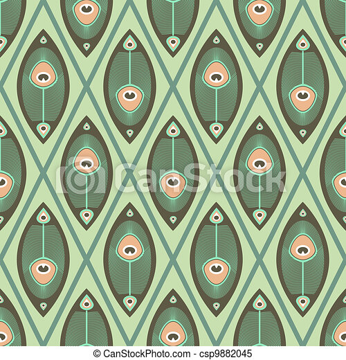 Pastel pattern peacock butterfly - csp9882045