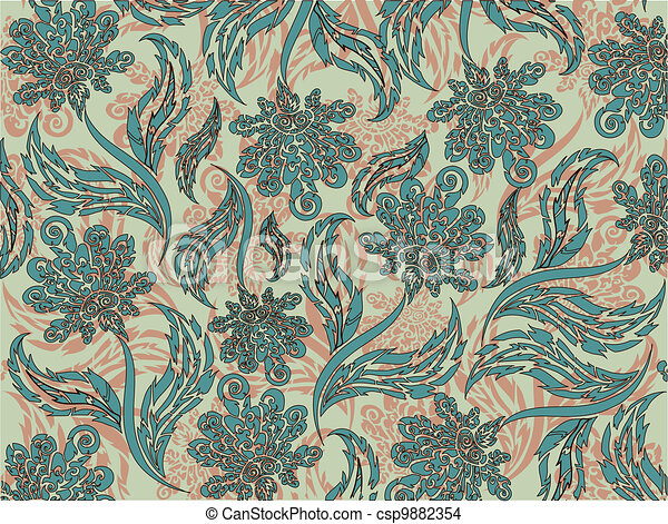 Floral pattern, about the background, the flora - csp9882354