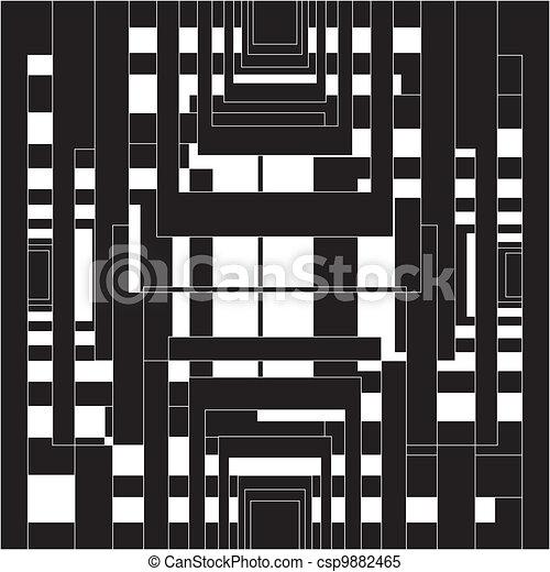 Architectural illusion - csp9882465