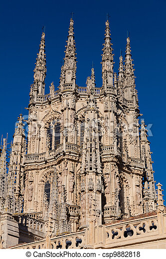 Cathedral of Burgos, Castilla y Leon, Spain - csp9882818