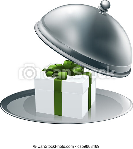 Gift on a silver platter - csp9883469