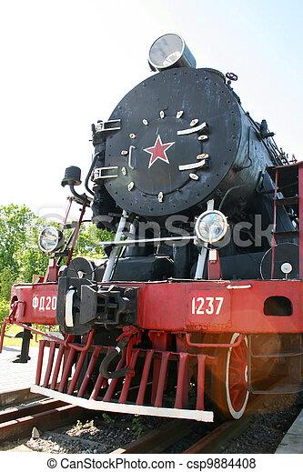 Old steam locomotive - csp9884408