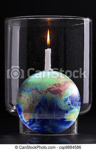 global warming effect - csp9884586