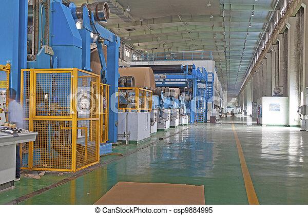 paper enterprise production line - csp9884995