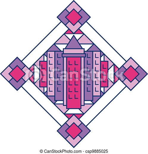 Art Deco City Design 2 - csp9885025