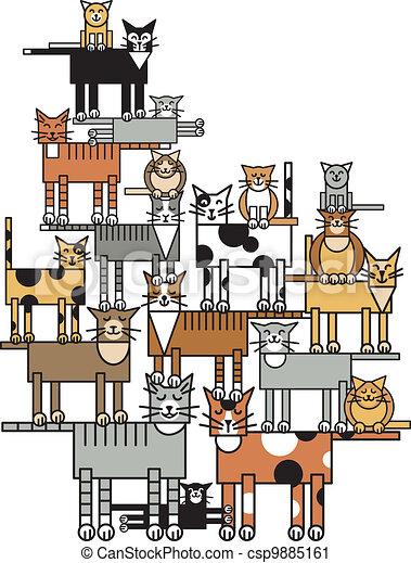 Cat Family - csp9885161