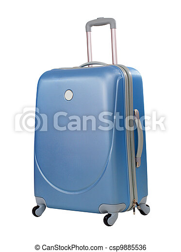Blue suitcase or trunk isolated with  included - csp9885536