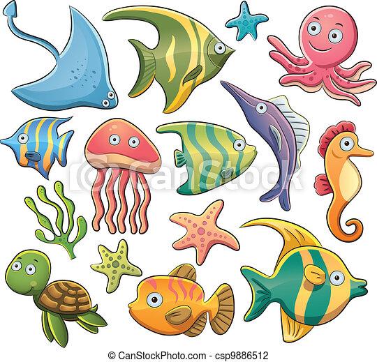 Sea Animals Collection - csp9886512