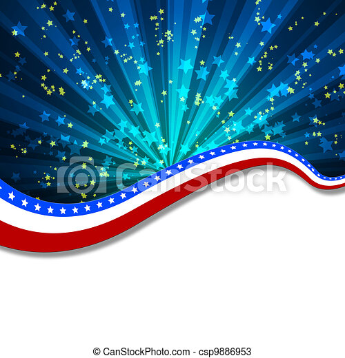 White blank background and fireworks - csp9886953