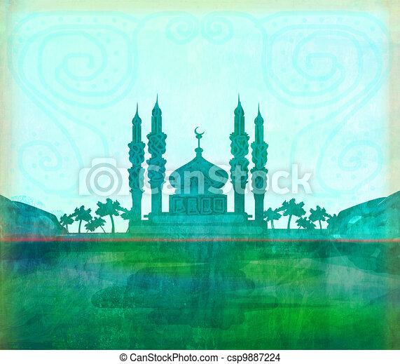 ramadan kareem card , raster - csp9887224