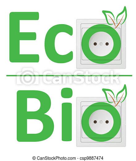 ecological concept, symbolizing bio energy - csp9887474