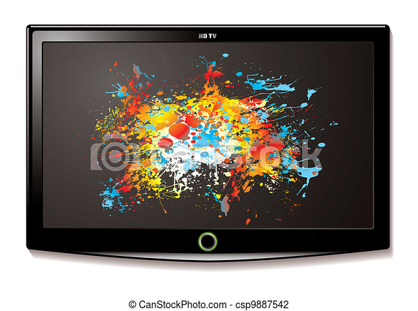 LCD TV Splat screen - csp9887542