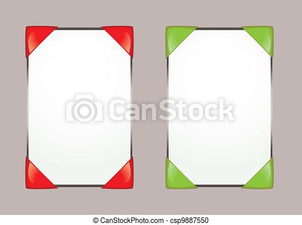 Paper notice board - csp9887550