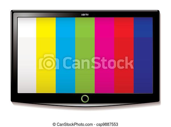 LCD TV Test screen - csp9887553