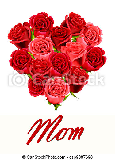 Birthday or Mother's Day card - csp9887698