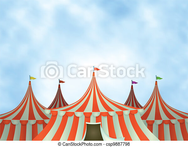 Circus Tents Background - csp9887798