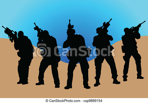 Army soldiers - csp9889154