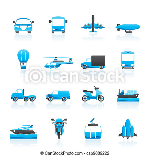 Transportation and travel icons - csp9889222