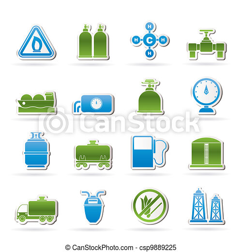 Natural gas objects and icons - csp9889225