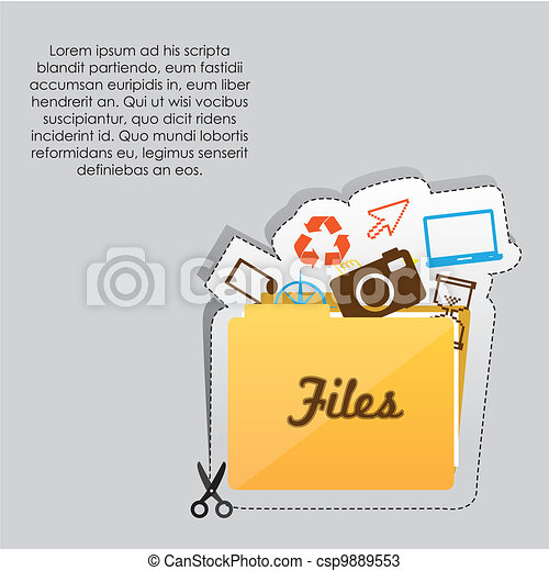File folder icon - csp9889553