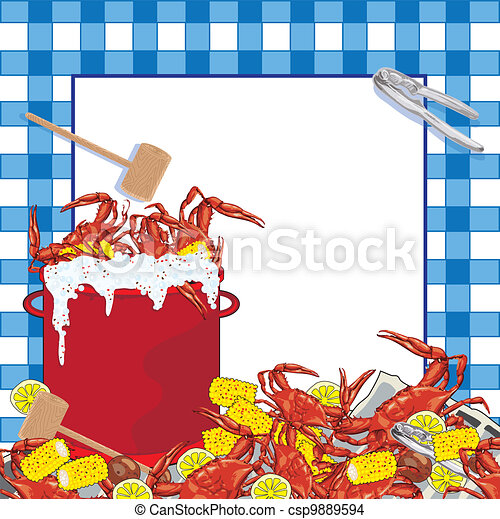 Crab Boil party invitation - csp9889594