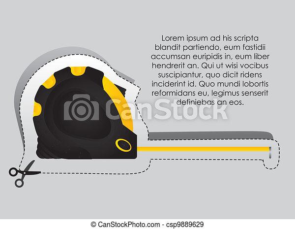 Label of a meter - csp9889629