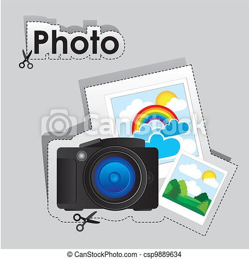 label of digital camera  - csp9889634