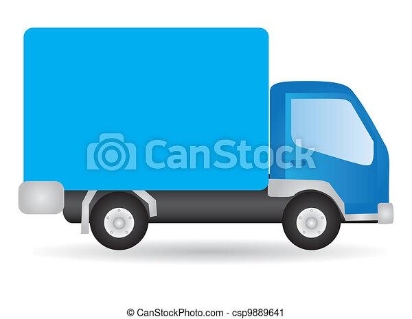 Vector illustration truck - csp9889641