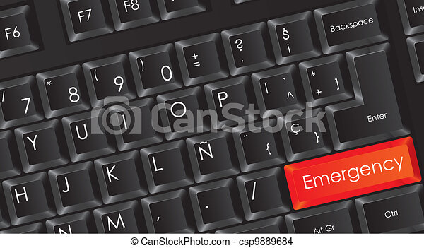 conceptual black keyboard - csp9889684