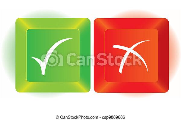right and wrong key   - csp9889686