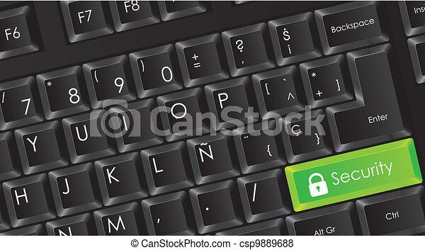 conceptual black keyboard - csp9889688