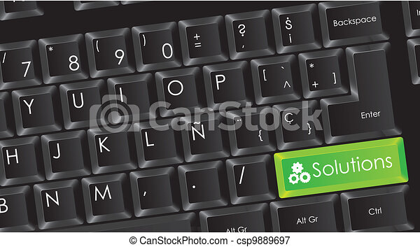 conceptual black keyboard - csp9889697