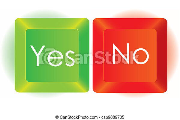 Yes and No button - csp9889705