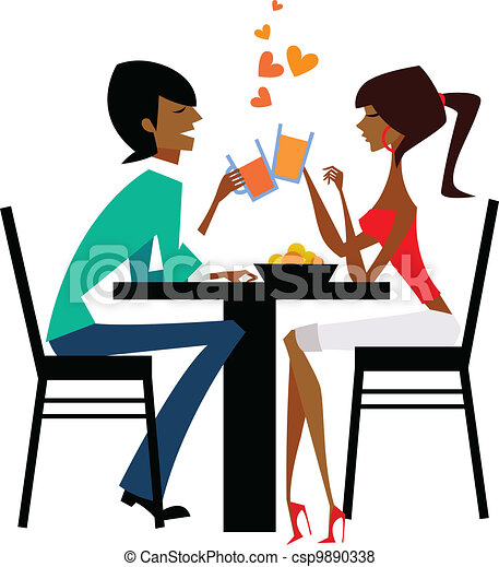 Couple drinking  - csp9890338